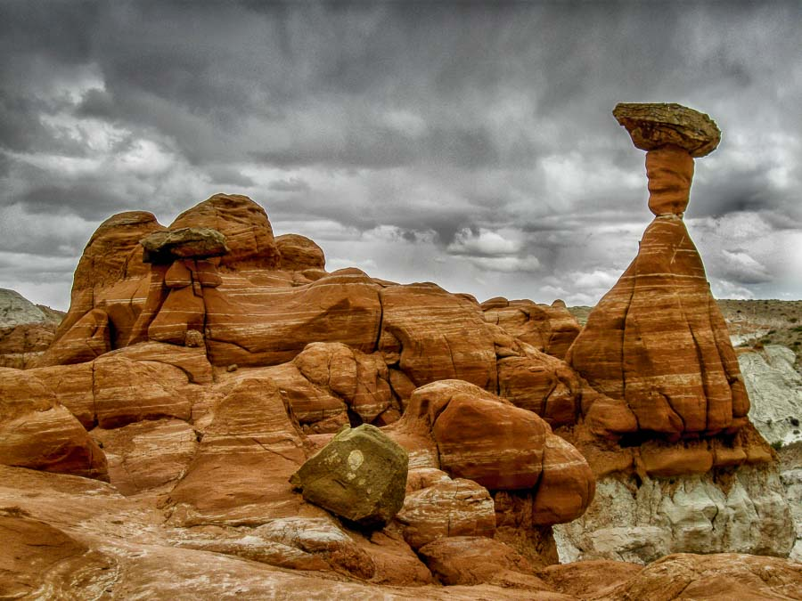 Toadstools at the Grand Staircase Escalante with full Lightroom enhancements