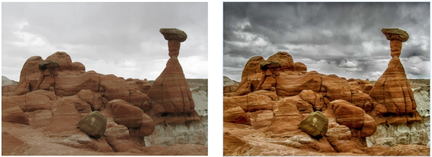 Side by side Comparison of the two images above