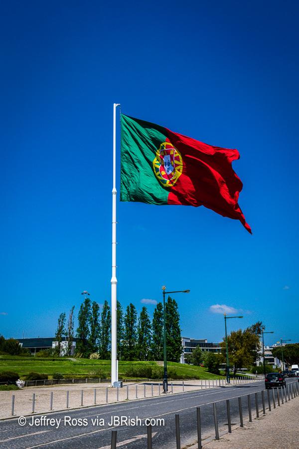 large Portuguese flag