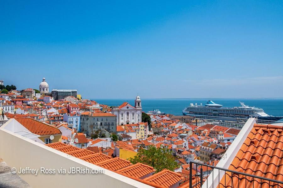 Another view of the port of Alfama seen from Miradouro de Santa Luzia