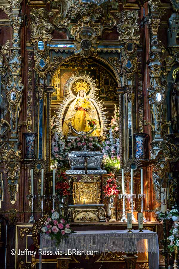 altar of the Virgen de la Paz - close up