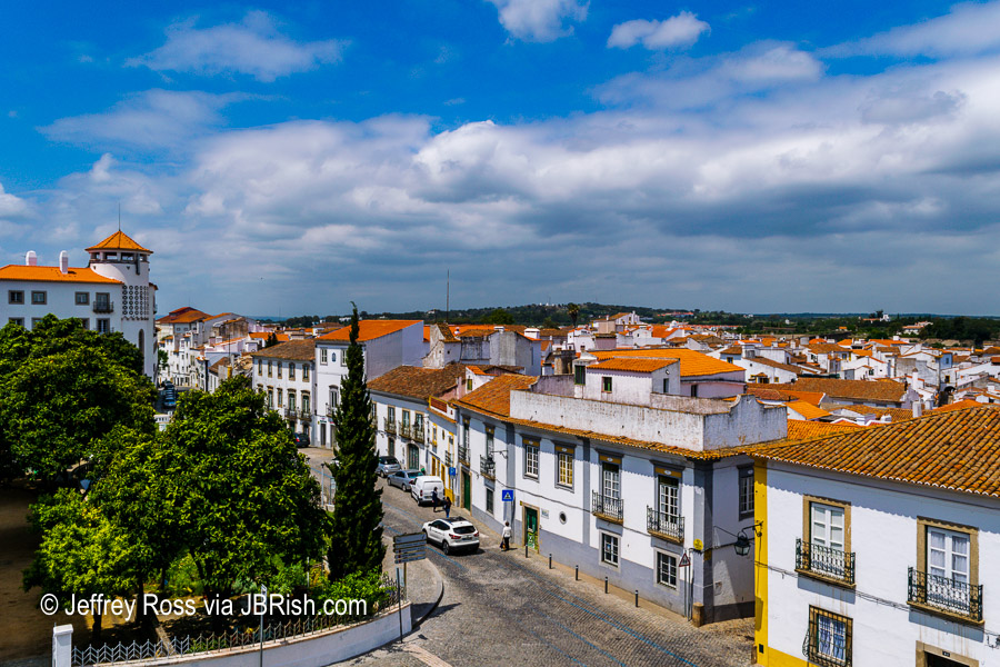 Historic Evora with tile roofs