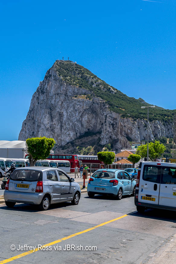 Crossing the Border from Spain to Gibraltar