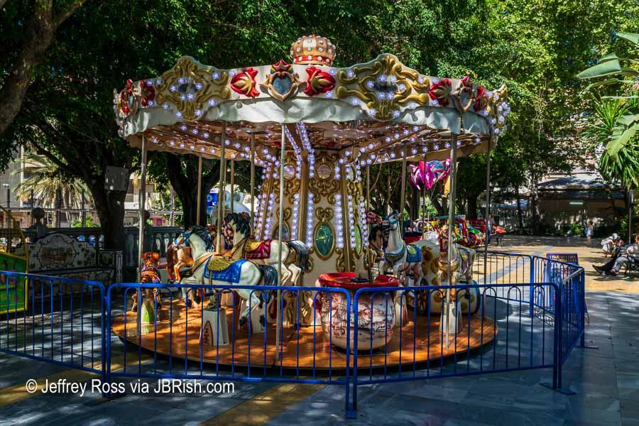 A carousel at Almeda park