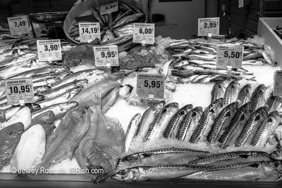 Fish market window