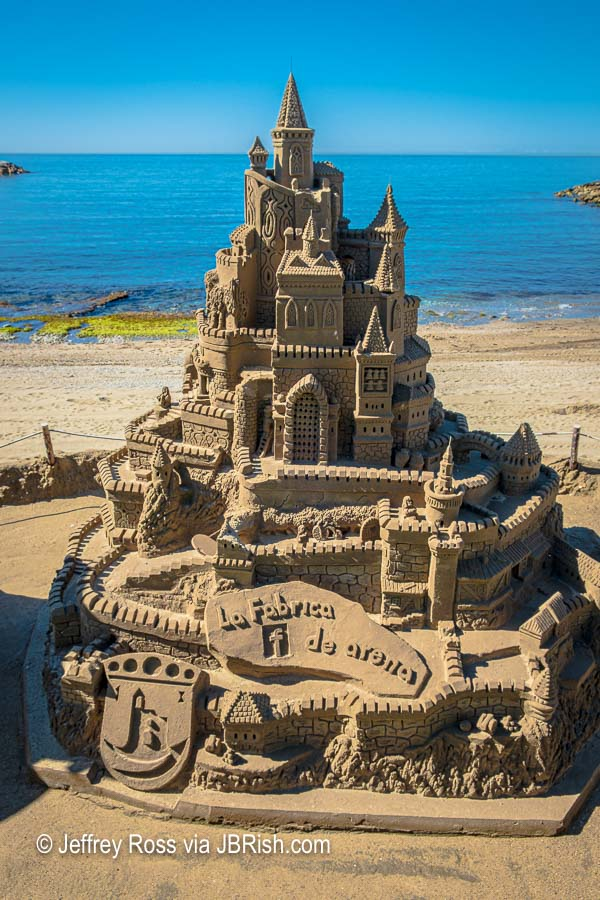 Castle sand sculpture