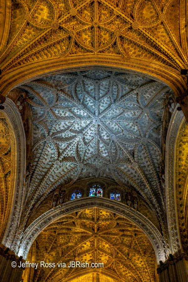 Detailed architectural ceilings