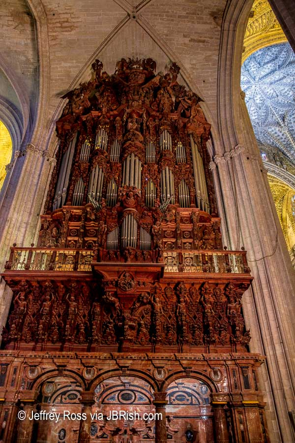Mahogany organ at the cathedral
