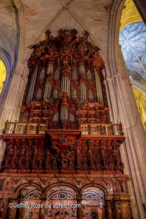 Mahogany organ at the cathedral