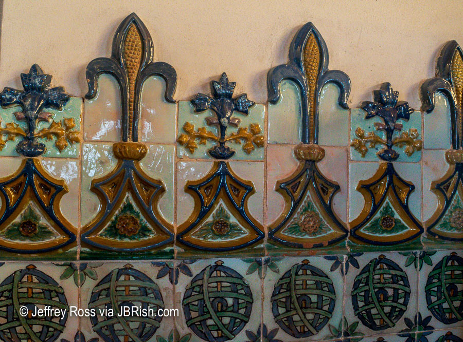 three dimensional corn tile work