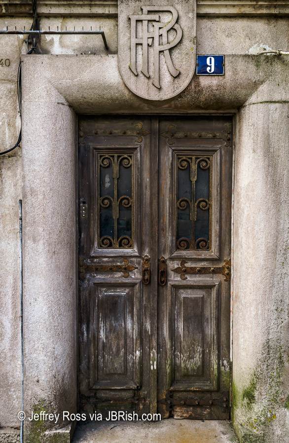 old, rugged doorway