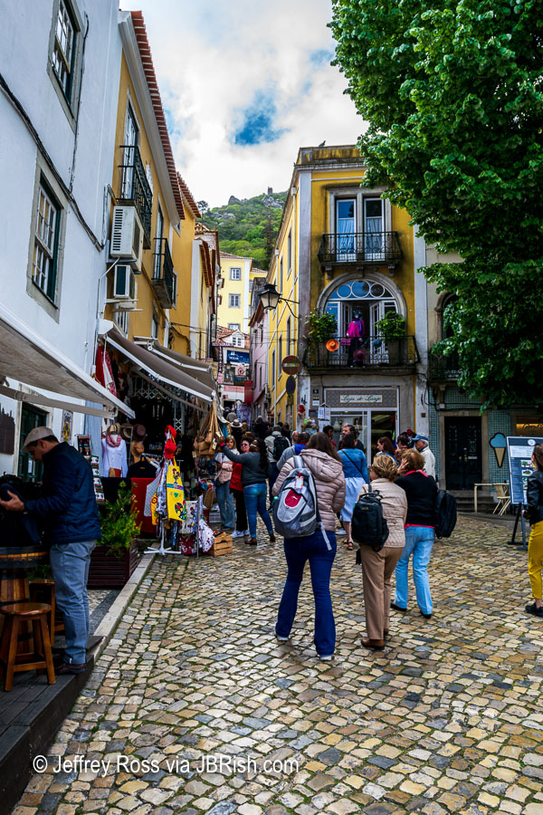 narrow street in Sintra