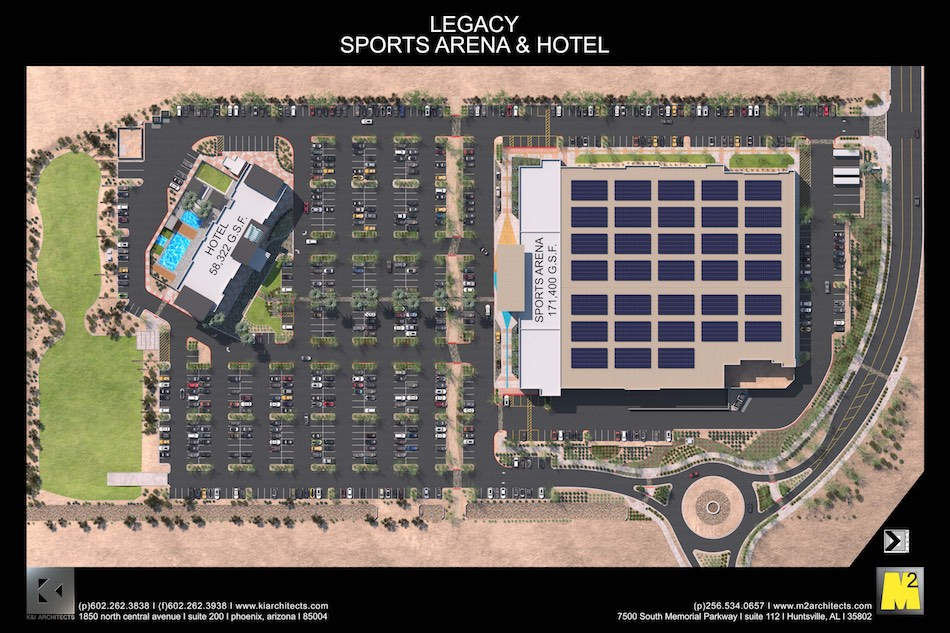 Drawing of the Legacy Sports Complex