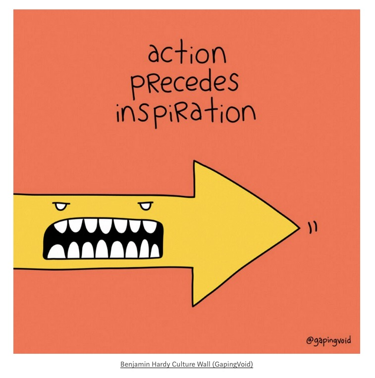 action precedes motivation