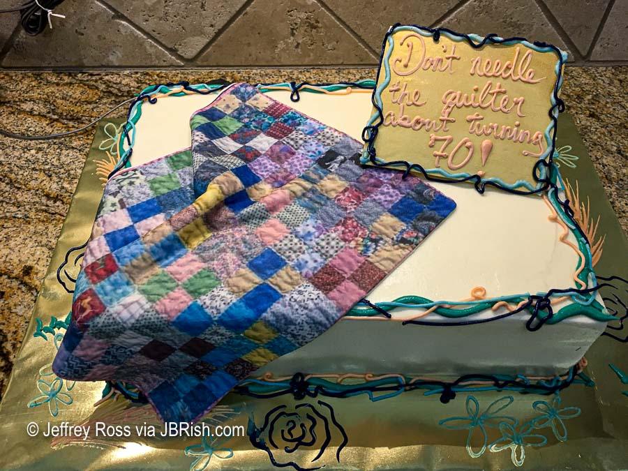 70th birthday amazing quilt cake