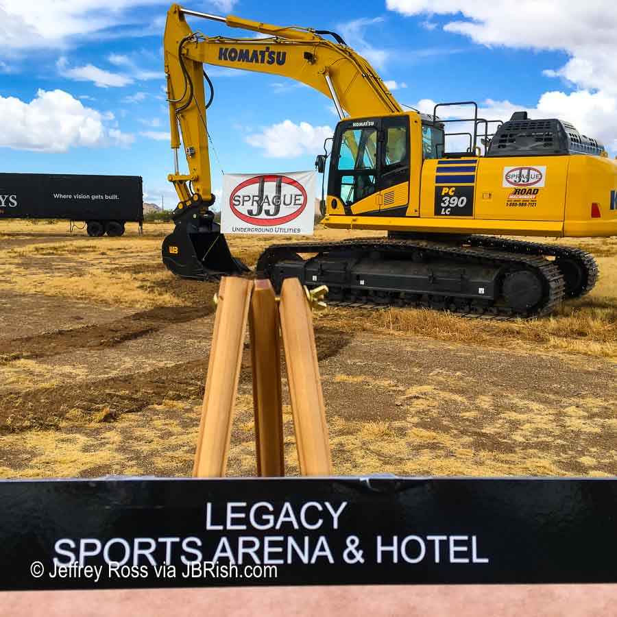 Construction starting at the Legacy Sports Complex