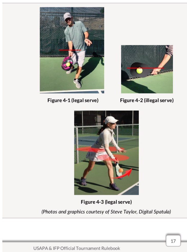 pickleball serve in pictures