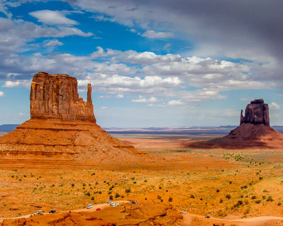 East and West Mittens at Monument Valley, Arizona