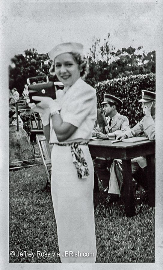 Sonja Henie visiting Hawaii with Shirley Temple