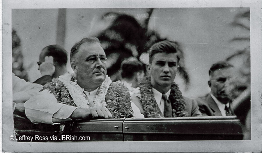 FDR and his son (Probably Franklin Delano Roosevelt Jr.) visit Hawaii - 1934
