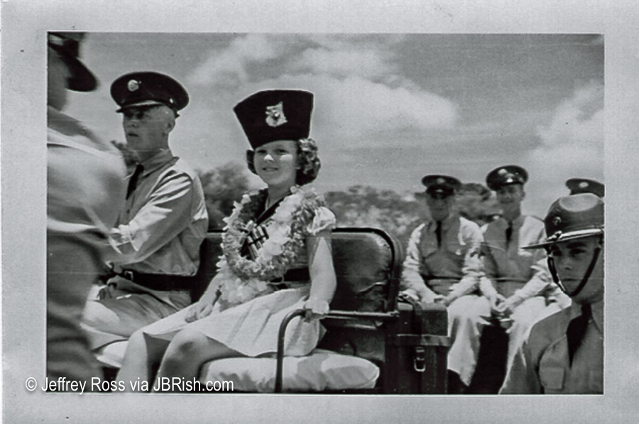 Young Shirley Temple visits American soldiers in Hawaii